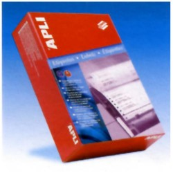 Etiquetas apli en papel continuo de 81,3x36 mm. / 4 c-16.000 uds.