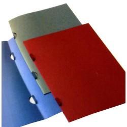 Dossier de presentación en cartulina fedrigoni sin bolsillos en din a-4 de color azul.