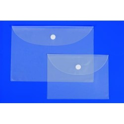 Pack de 5 sobres de p.v.c. transparentes iberplas en folio apaisado.