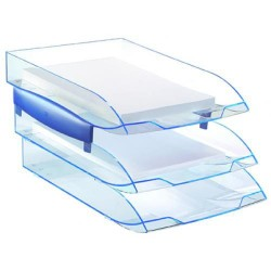 Bandeja portadocumentos cep ice&confort en color azul traslúcido.
