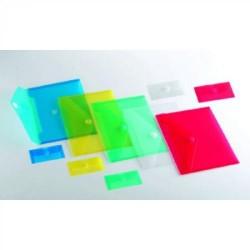 Pack de 50 sobres de polipropileno translúcido carchivo en 60x105 mm. de colores surtidos.