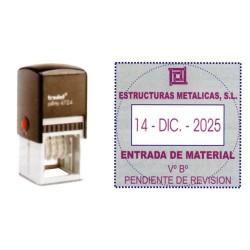Fechador automático con placa de texto personalizado trodat printy 4724.
