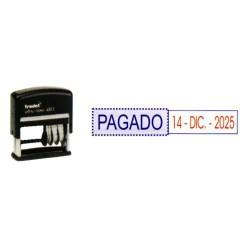 Fechador automático con placa de texto personalizado trodat printy 4813.