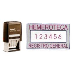 Numerador automático con 6 bandas y placa para personalizar trodat printy 47504846.