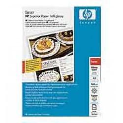 Paquete de 100 hojas de hewlett packard superior laser glossy paper en din a-4 de 160 grs.