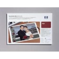 Paquete de 25 hojas de hewlett packard premium plus photo paper satinado en din a-3+ de 286 grs.