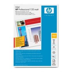 Paquete de 200 hojas de hewlett packard profesional mate paper en din a-4 de 120 grs.