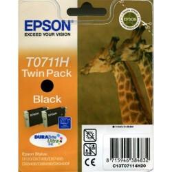 Pack de 2 cartuchos ink-jet epson stylus d120/dx7400/dx8450 negro.