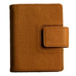 Agenda-billetero finocam classic meda 602 en piel de color mostaza.