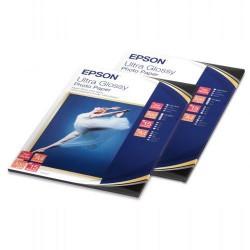 Paquete de 15 hojas de epson ultra glossy photo paper en din a-4 de 300 grs.