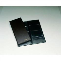 Portatarjetas de visita en p.v.c. de fundas fijas unioffice de 120x290 mm. en color negro con capacidad para 80 tarjetas.