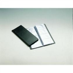 Portatarjetas de visita en p.v.c. de fundas fijas unioffice de 120x274 mm. en color negro con capacidad para 160 tarjetas.