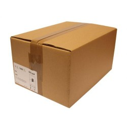 Caja de 1000 hojas en din a-4 de etiquetas blancas gama industrial para ink-jet, laser y fotocopiadora de 105x37 mm.