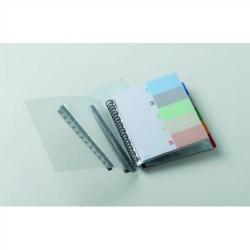 Carpeta con 20 fundas transparentes extraibles elba flexam plus en din a-4 de color transparente.