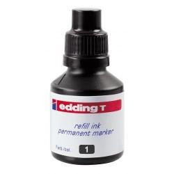 Tinta de recarga edding t 100 de 100 ml. negro.