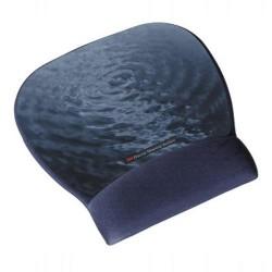 Reposamuñecas 3m línea confort con superficie de precisión en color azul con motivo agua.