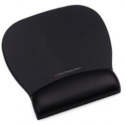 Reposamuñecas 3m línea confort con superficie de precisión en color negro.