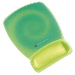 Reposamuñecas 3m línea confort con superficie de precisión en color verde fluorescente.