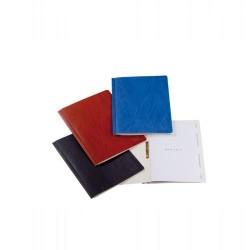 Dossier de proyectos con lomo fuelle uni system en din a-4 de color azul.