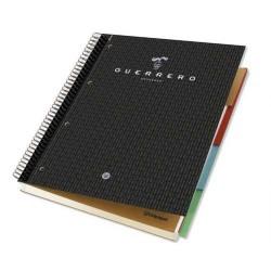 Cuaderno espiral microperforado con 4 taladros y 4 separadores guerrero estudio 04 negro en din a-4 con cuadrícula de 5 mm. de 1