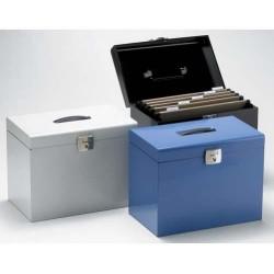 Archivador de carpetas colgantes de visión superior en din a-4 portátil elba design en color azul.