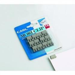 Clips de acero inoxidable carl mori-clip para 60 hojas, caja de 18 uds.