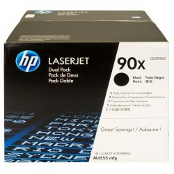 Toner laser hewlett packard enterprise 600/601/m602n negro, pack doble.