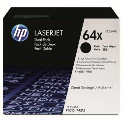 Toner laser hewlett packard laserjet p4015/p14515 negro, pack doble.