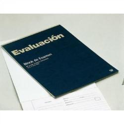Block de examen evaluación cubierta a todo color en folio con cuadrícula de 4 mm. de 40 hojas.