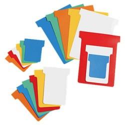 Pack de 100 fichas t para plannings personalizables nobo índice 3 color rojo.