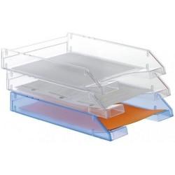 Bandeja portadocumentos archivo 2000 en color cristal transparente.