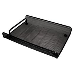 Bandeja portadocumentos de malla metálica 5* mesh en color negro.