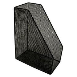 Revistero de archivo de malla metálica 5* mesh en color negro.