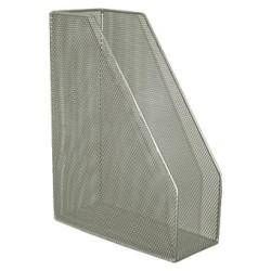 Revistero de archivo de malla metálica 5* mesh en color plata.