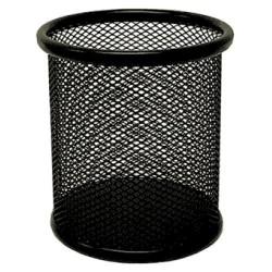 Cubilete portalápices de malla metálica 5* mesh en color negro.