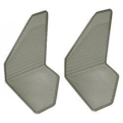 Set de 2 sujetalibros de malla metálica 5* mesh en color plata.