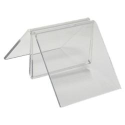 Clip sujeta-menú deflect-o de 81x100x44 mm. en color cristal transparente.