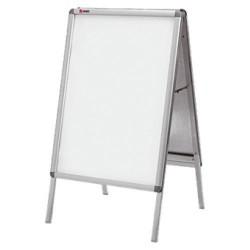 Caballete de doble cara nobo a-frame de 85x48,5x47,5 cm. con marco en aluminio.