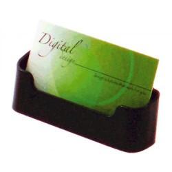 Portatarjetas de sobremesa deflect-o 1 compartimento horizontal en color negro.