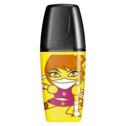 Marcador fluorescente stabilo boss mini heroes amarillo.