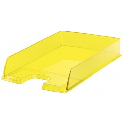 Bandeja portadocumentos esselte europost transparente en color amarillo vivida.