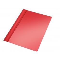 Dossier con fástener metálico de p.v.c. esselte en din a-4 de color rojo.