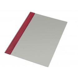 Dossier en pvc con fastener metálico esselte en formato din a-4, color burdeos.