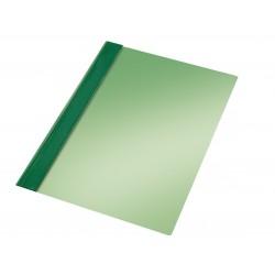 Dossier en pvc con fástener metálico esselte en formato din a-4, color verde.