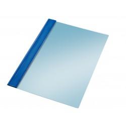 Dossier en pvc con fástener metálico esselte en formato din a-4, color azul.