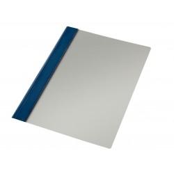 Dossier en pvc con fástener metálico esselte en formato din a-4, color azul marino.