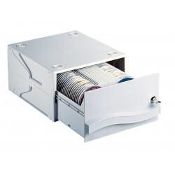 Archivador apilable esselte dataline para 120 cd/dvd´s sin caja.