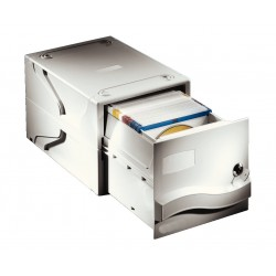 Archivador apilable esselte dataline para 160 cd/dvd´s sin caja.