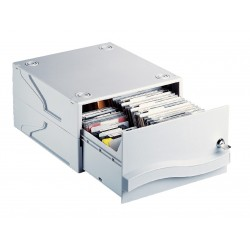 Archivador apilable esselte dataline para 50 cd/dvd´s sin caja.