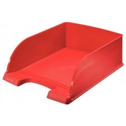 Bandeja portadocumentos leitz plus jumbo de gran capacidad en color rojo.